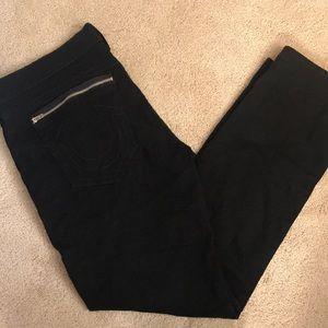 Men's True Religion black zipper jeans. SZ 44